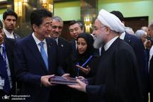 دیدار رییسجمهور روحانی و نخستوزیر ژاپن از نمایشگاه نودمین سال روابط دیپلماتیک دو کشور