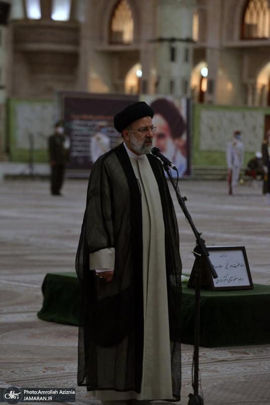 تجدیدمیثاق رئیس قوه قضائیه و مسئولان عالی قضایی با آرمانهای حضرت امام خمینی(س)