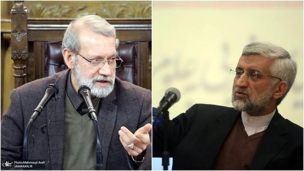 لاریجانی خطاب به سعید جلیلی: مملکت داری با تهاتر پوست بره و بز محال است آقا!