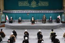 دیدار میهمانان کنفرانس وحدت اسلامى و جمعی از مسئولان نظام با رهبر معظم انقلاب