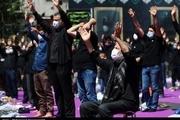 مراسم عزاداری عاشورای حسینی در میدان فلسطین
