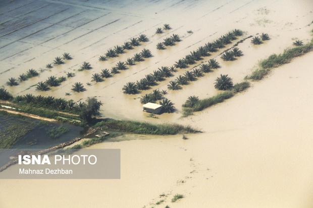 تخلیه آب حدود 7 هزار هکتار از اراضی سیلزده دشتآزادگان