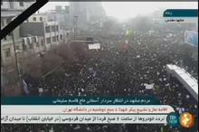 اجتماع میلیونی مردم مشهد در انتظار سردار آسمانی شهید حاج قاسم سلیمانی