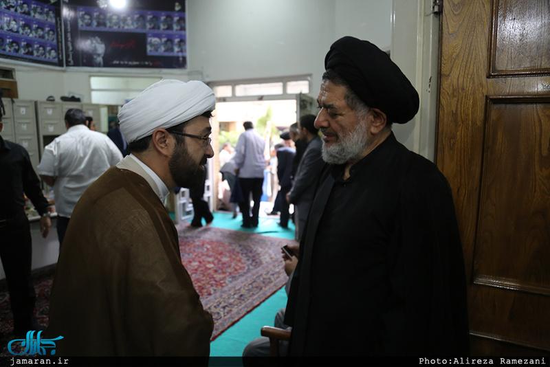 مراسم ختم مادر حجت الاسلام و المسلمین محتشمی پور در مسجد خاتم انبیاء (ص)