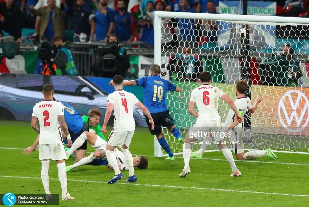 ویدیو/ گل های دیدار ایتالیا و انگلیس در فینال یورو 2020