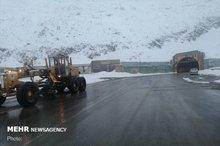 کولاک برف در جاده چالوس  تردد جریان دارد