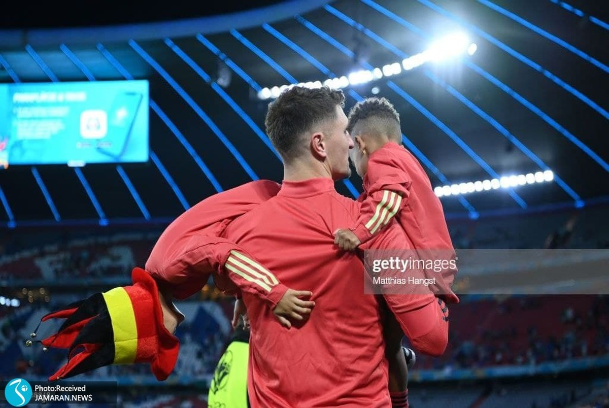 لحظه غیرفوتبالی اما جذاب و زیبا در یورو 2020 +عکس