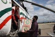 امداد هوایی به کمک سیل زدگان ماژین می آید