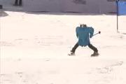 رقابت روبات های اسکی باز در کره جنوبی