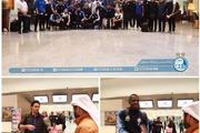 استقبال مسئولان باشگاه الریان از کاروان استقلال در فرودگاه دوحه + عکس