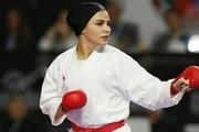 حضور سارا بهمنیار در مسابقات کاراته لیگ جهانی شیلی
