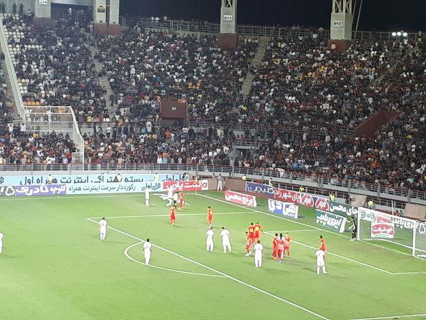 تیم فولاد خوزستان مقابل پرسپولیس شکست خورد