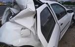 تصادف وحشتناک کامیون با خودروی ال 90 در بزرگراه شهید بابایی/ عکس