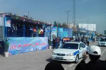 رزمایش ترافیک و خدمات سفر نوروز 98 در قزوین برگزاز شد