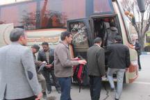 کاروان نوروزی راهیان نور خمین به مناطق عملیاتی جنوب اعزام شد