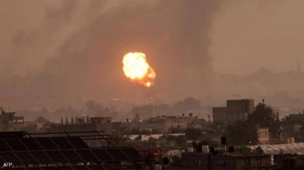 رژیمصهیونیستی به شمال غرب غزه حمله هوایی کرد
