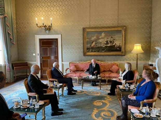 ظریف با رییس جمهور ایرلند دیدار کرد