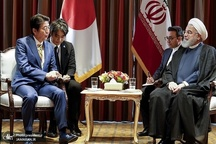 دیدار و گفت و گوی روحانی و آبه شینزو در مقر سازمان ملل