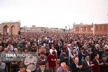 برپائی نماز عید فطر در شهیدگاه اردبیل