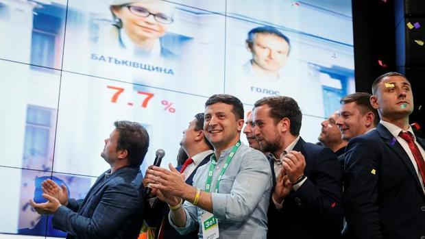 پیروزی چشمگیر حزب رئیس جمهور اوکراین در انتخابات پارلمانی