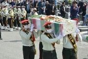 برگزاری مراسم تشییع پیکر خلبان شهید هواناجا در کرمانشاه