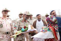فرمانده مرزبانی ناجا از پایانه مرزی باجگیران بازدید کرد