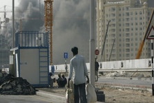 وقوع آتش سوزی بزرگ در یک بازار در امارات