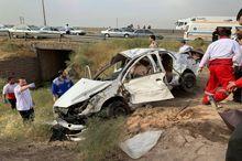 واژگونی خودرو در قزوین سه کشته بر جا گذاشت