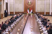 روحانی: امنیت و توسعه منطقه بدون ثبات و توسعه ایران و عراق امکانپذیر نیست