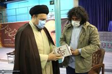 دیدار نویسنده و ناشر کتاب «خون دل» با سیدحسن خمینی