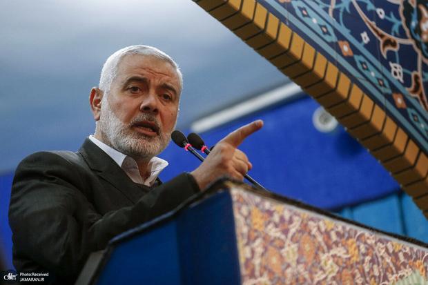 تسلیت اسماعیل هنیه به رهبر انقلاب در پی شهادت سردار حجازی