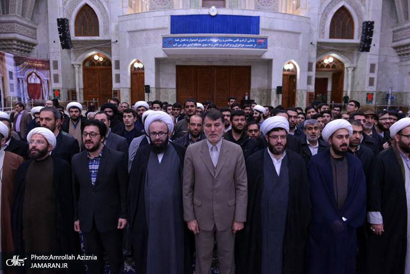 تجدید میثاق امام جمعه و مسئولین شهرستان پرند با آرمان های امام خمینی(س)