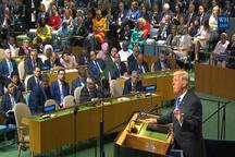 ترامپ: زمان آن است که مقابل کشوری که شعار مرگ بر آمریکا می دهد بایستیم /  اگر مجبور شویم کره شمالی را به طور کامل نابود خواهیم کرد