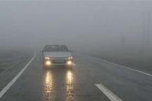 جاده های زنجان پوشیده از مه و لغزنده است
