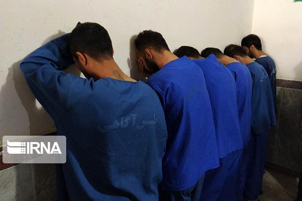 ۹ سارق به عنف در سنندج دستگیر شدند