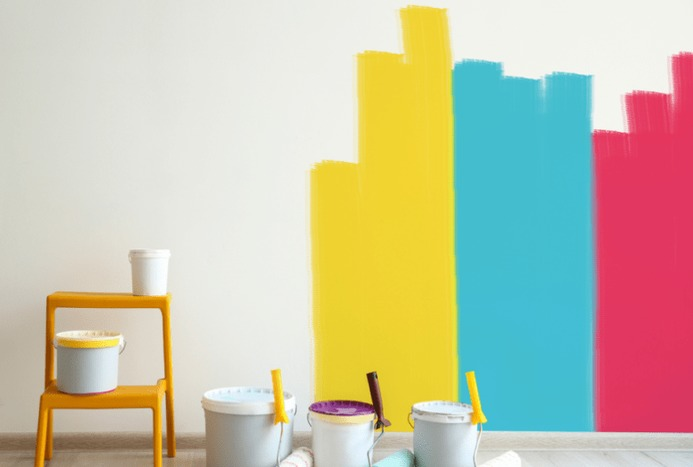 ایده هایی برای رنگ آمیزی دیوار/ ویدیو