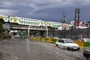 باران در البرز سیلاب جاری کرد