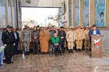 مراسم صبحگاه مشترک نیروهای مسلح قم در روز شهید برگزار شد
