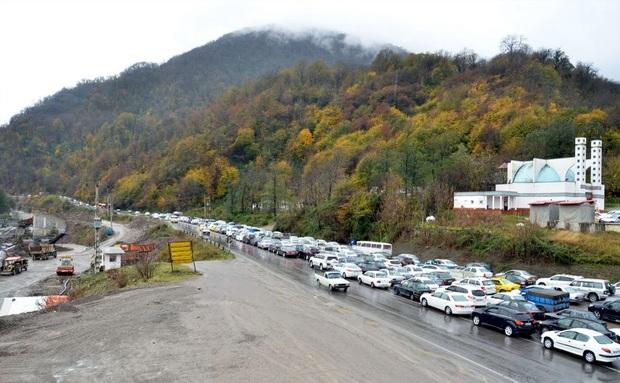 محورهای مازندران به سمت تهران پرترافیک است