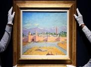 فروش نقاشی چرچیل متعلق به آنجلینا جولی در یک حراجی