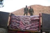 پنج تن برنج قاچاق در تایباد کشف و ضبط شد