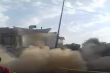 فرونشست میدان بزرگ شهید مطهری در قم + فیلم