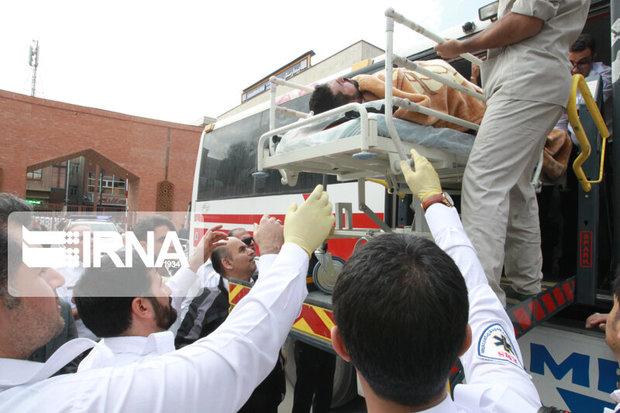 ۵ دانش آموز مدارس شیراز در تصادف سرویس مدرسه مصدوم شدند