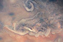 تصاویر جدید از شکلگیری ابرطوفان در سیاره مشتری
