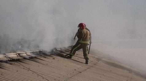 ویدئو/ آتش سوزی انبار لاستیک در شهریار