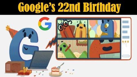 گوگل تولد 22 سالگی اش را جشن گرفت