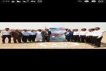کلنگ زنی اولین آشیانه بالگرد اورژانس هوایی جنوب شرق کشور در ایرانشهر