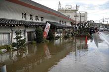 بارشهای سیل آسا در غرب ژاپن