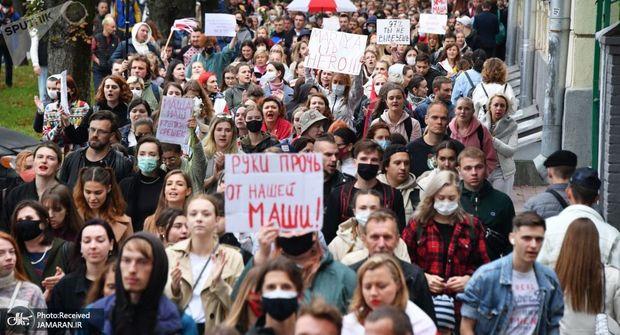 ادامه اعتراضات در بلاروس: بازداشت بیش از 400 نفر و شلیک تیر هوایی