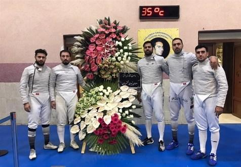 جایزه ۳ هزار دلاری مسابقات بینالمللی شمشیربازی به محمد رهبری رسید